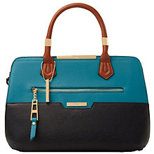 Buy Dune Triple Gusset Zip Front Grab Bag, Blue Online at johnlewis.com