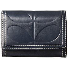 Buy Orla Kiely Embossed Stem Medium Zip Purse, Navy Online at johnlewis.com