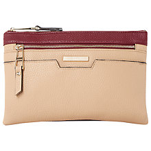 Buy Dune Demily Double Pouch Across Body Bag, Berry Online at johnlewis.com