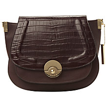 Buy Dune Delphine Croc Saddle Grab Bag Online at johnlewis.com