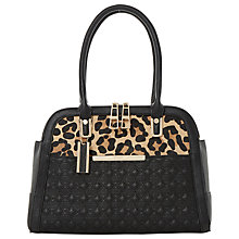 Buy Dune Dee Twin Zip Tote Bag, Black Online at johnlewis.com