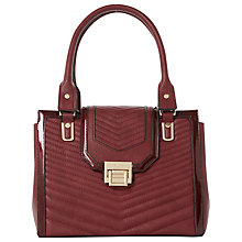Buy Dune Danica Quilt Patent Trim Tote Online at johnlewis.com