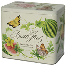 Buy Fine Cheese Co, Butterflies Biscuit Tin, 225g Online at johnlewis.com