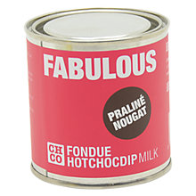 Buy The Chocolate Company, Fabulous Milk Praline Fondue Online at johnlewis.com