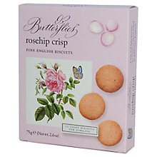 Buy Fine Cheese Co, Butterflies Rosehip Crisp Biscuits, 75g Online at johnlewis.com