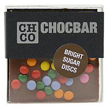 Buy The Chocolate Company, Chocbar Milk With Bright Discs Online at johnlewis.com