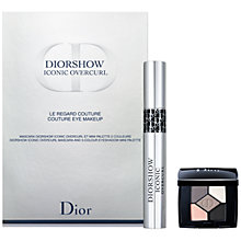 Buy Dior Diorshow Iconic Overcurl Mascara & 5 Colour Eyeshadow Mini Palette Makeup Gift Set Online at johnlewis.com