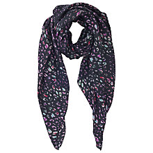 Buy French Connection Odelia Electric Leo Silk Scarf, Black Multi Online at johnlewis.com