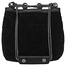 Buy Reiss Mini Drawstring Bag, Black Online at johnlewis.com