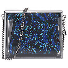 Buy French Connection Resin Box Clutch Bag, Clearwater Online at johnlewis.com