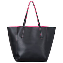 Buy French Connection Francis Shopper Bag, Black/Ziggy Pink Online at johnlewis.com