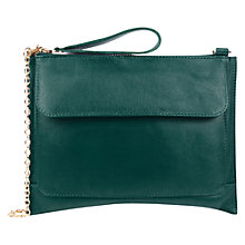 Buy Oasis Leather Betti Clutch Online at johnlewis.com