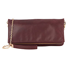 Buy Oasis Felicity Foldover Bag, Burgundy Online at johnlewis.com