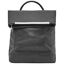 Buy French Connection Carla PU Backpack, Black Online at johnlewis.com