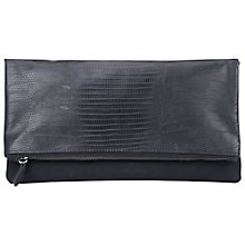 Buy French Connection Lizard Slouchy Clutch Bag, Black Online at johnlewis.com