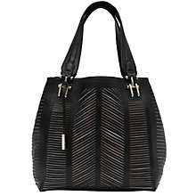 Buy Reiss Palmer Cutwork Metal Bridge Open Tote Bag, Black Online at johnlewis.com