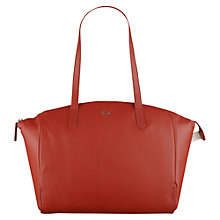 Buy Tula Nappa Originals Large Zip Top Tote Bag, Red Online at johnlewis.com