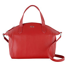 Buy Tula Nappa Originals Medium Zip Top Handbag, Red Online at johnlewis.com