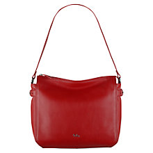 Buy Tula Nappa Originals Medium Zip Top Shoulder Bag, Red Online at johnlewis.com