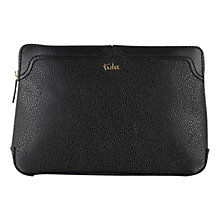 Buy Tula Rye Originals Leather Medium Zip Top Clutch Bag, Black Online at johnlewis.com