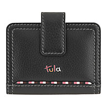 Buy Tula Mallory Leather Credit Card Holder, Black Online at johnlewis.com