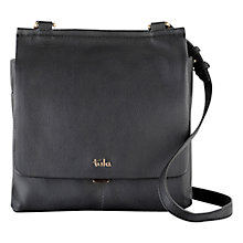 Buy Tula Nappa Originals Medium Flapover Bag, Black Online at johnlewis.com