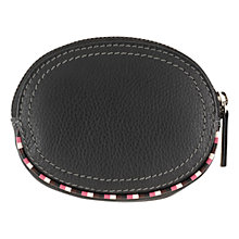 Buy Tula Mallory Leather Zip Coin Purse, Black Online at johnlewis.com
