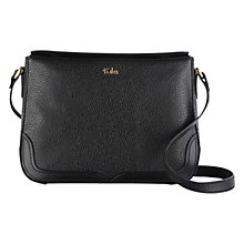 Buy Tula Rye Originals Leather Medium Double Flap Across Body Bag, Black Online at johnlewis.com