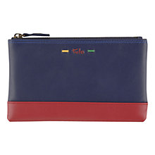 Buy Tula Violet Ziptop Leather Pouch, Purple Online at johnlewis.com
