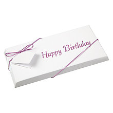 Buy Ambassadors of London, Happy Birthday Chocolate Bar, Pink, 100g Online at johnlewis.com