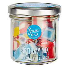 Buy Spun Candy Birthday Mix Jar, Blue, 100g Online at johnlewis.com