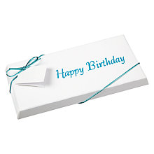 Buy Ambassadors of London, Happy Birthday Chocolate Bar, Blue, 100g Online at johnlewis.com