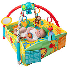 Buy Bright Starts Sensory Sunny Safari Baby Activity Gym Online at johnlewis.com