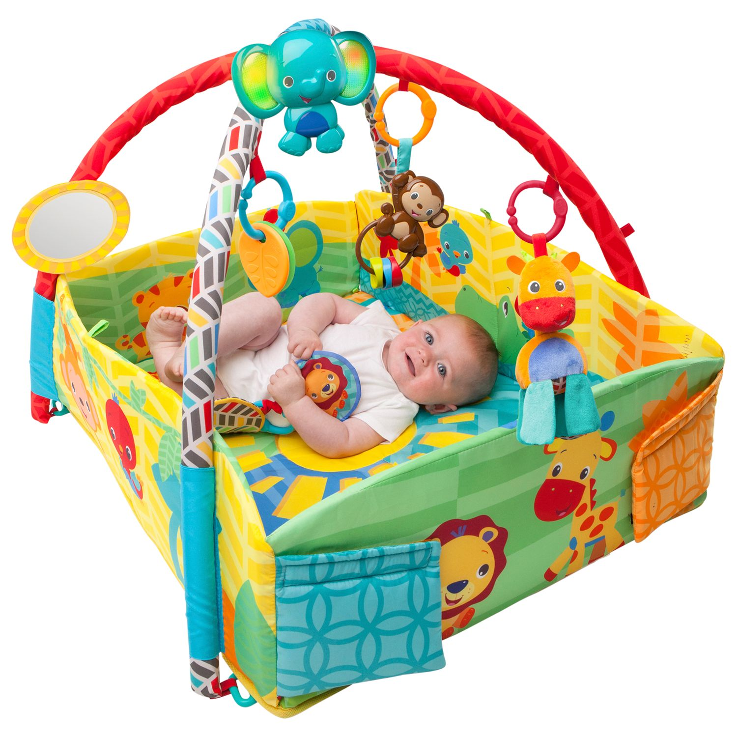 Bright Starts Bright Starts Sensory Sunny Safari Baby Activity Gym