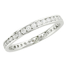 Buy EWA Platinum Diamond Full Eternity Ring, Platinum Online at johnlewis.com