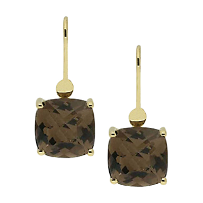 London Road 9ct Gold Bloomsbury Cushion Hook Drop Earrings