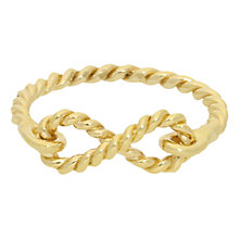 Buy London Road 9ct Gold Twisted Rope Infinity Ring, Gold Online at johnlewis.com