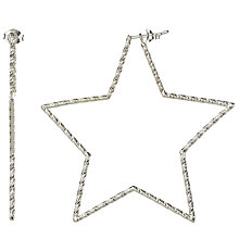 Buy Phoebe Coleman for John Lewis Star Bright Hoop Earrings, Silver Online at johnlewis.com