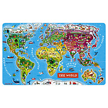 Buy Janod Magnetic World Puzzle, 92 Pieces Online at johnlewis.com