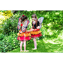 Buy Travis Designs Butterfly Fairy Dressing-Up Costume, Red/Gold Online at johnlewis.com