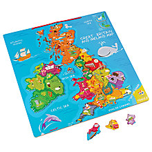 Buy Janod UK & Ireland Map Magnetic Puzzle, 80 Pieces Online at johnlewis.com