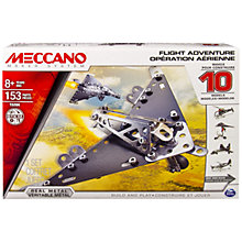Buy Meccano Flight Adventure, 10 Model Set Online at johnlewis.com