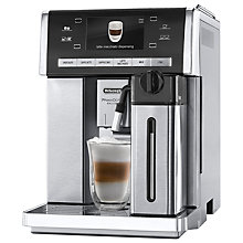 Buy De'Longhi ESAM6900.M PrimaDonna Exclusive Bean-to-Cup Coffee Machine, Stainless Steel Online at johnlewis.com