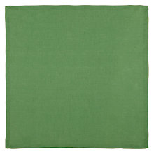 Buy John Lewis Croft Collection 100% Linen Napkin, Green Online at johnlewis.com