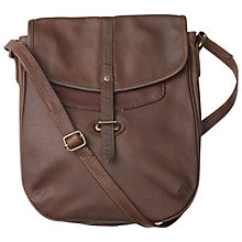 Buy Fat Face Cleveley Leather Bag, Chocolate Online at johnlewis.com