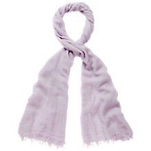 Buy Pure Collection Cashmere Babington Scarf, Lavender Grey Online at johnlewis.com