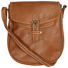 Buy Fat Face Cleveley Leather Crossbody Bag, Tan Online at johnlewis.com