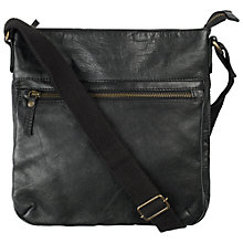 Buy Fat Face Kelvedon Leather Bag, Black Online at johnlewis.com