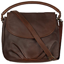 Buy Fat Face Buford Shoulder Bag, Chocolate Online at johnlewis.com
