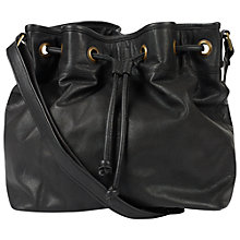 Buy Fat Face Woodhouse Leather Duffle Bag, Black Online at johnlewis.com